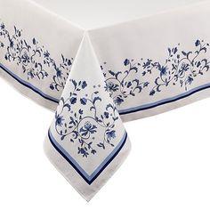 Portmeirion Blue Portofino Tablecloth, Multicolor