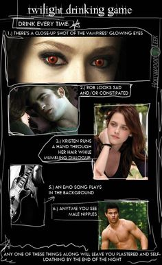 Twilight Drinking Game! For when I'm 21 of course....
