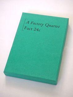 """Factory Records unique cassette boxes this is FACT or """"A Factory Quartet"""""""