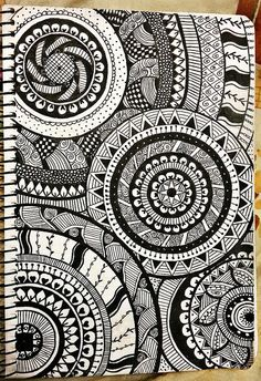 31 Ideas for doodle art ideas draw zentangle patterns Doodle Art Drawing, Zentangle Drawings, Cool Art Drawings, Mandala Drawing, Doodling Art, Zentangle Patterns, Zentangles, Mandala Sketch, Drawing Ideas