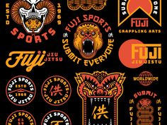Fuji Sports Overview is part of Logos design - Fuji Sports Overview designed by Brethren Design Co Connect with them on Dribbble; the global community for designers and creative professionals Badge Design, Label Design, Print Design, Typography Logo, Typography Design, Logo Inspiration, Badges, Hongkong, Retro Logos