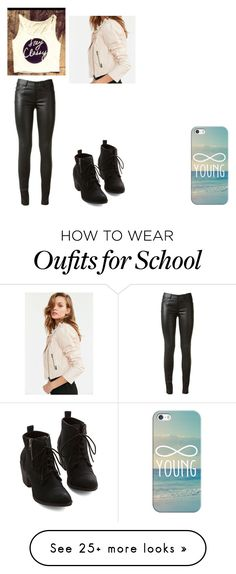 """""""Cress: High School"""" by paigelowe-224 on Polyvore featuring Casetify, Yves Saint Laurent and Members Only"""