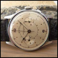 1940's CHRONOGRAPHE SUISSE Vintage Chronograph Watch HW Landeron Cal. 152; 38mm