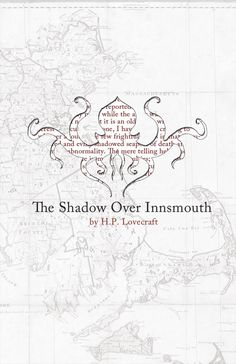 The Shadow Over Innsmouth Poster Print on 100 by bookrapport La Sombra Sobre Innsmouth, The Shadow Over Innsmouth, French Words, Pigment Ink, Cthulhu, Large Prints, Art Reproductions, Watercolor Paper, Giclee Print