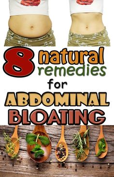 Get rid of abdominal bloating with natural drinks.