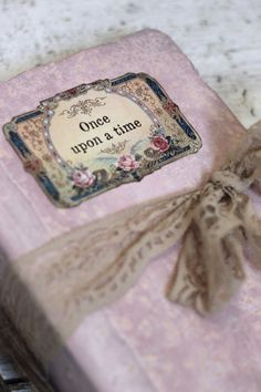 Blush pink once upon a time Photo Album OR by LotusBluBookArt