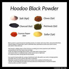 Hoodoo black powder