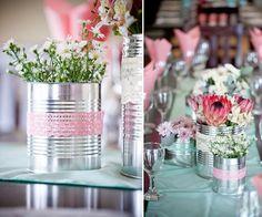 No mesmo casamento, as diferentes combinações de flores é o que dá o toque interessante.