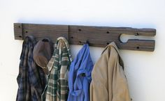 Rustic Wood Coat Rack  lumber from an 1860/70's by ReclaimedTrends, $85.71