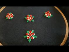 All Over Floral Design for Dress/Kurti (Hand Embroidery Work) Simple Hand Embroidery Designs, Basic Embroidery Stitches, Hand Embroidery Videos, Hand Embroidery Tutorial, Machine Embroidery Designs, Kurti Embroidery Design, Floral Embroidery Patterns, Hand Embroidery Flowers, Hand Work Embroidery
