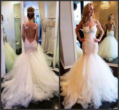 Vintage Lace Mermaid Backless Wedding Dresses Appliques Sheer Bolero Sweetheart See Through Puffy Bridal Gowns 2015 Vestidos De Novia Online with $151.25/Piece on Weddinggirlsdress's Store | DHgate.com
