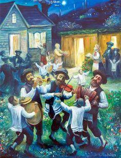 The Joy of Sukkot, Boris Shapiro (Ukrainian-Israeli Artist was born in 1968 in Lvov, Ukraine; since 1991 lives in Israel) Oil Painting Gallery, Art Gallery, Stone Painting, Arte Judaica, Political Art, Jewish Art, Photo Art, Illustration Art, Illustrations