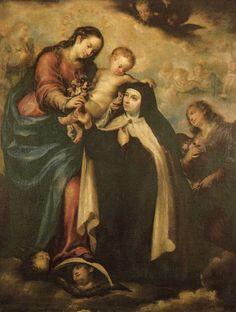 La Virgen María y Santa Teresa de Avila.