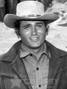 "Michael Landon as ""Little Joe"" Cartwright on Bonanza (1959-1973)"