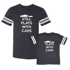 We  Match! * Plays With Cars & Still Plays With Cars * Matching Daddy Son Football T-Shirts Father Son Father's Day SMOKE (VSET225WHT) by wematchclothing on Etsy https://www.etsy.com/listing/230115257/we-match-plays-with-cars-still-plays