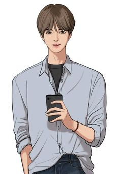 he kinda looks Taehyung wth-- and Suho looks like Eunwoo from astro-- my lifee is a lieeeEe Yukine Noragami, Boy Illustration, Coffee Illustration, Modelos 3d, Webtoon Comics, Anime Love Couple, Korean Art, Manga Characters, Boy Art