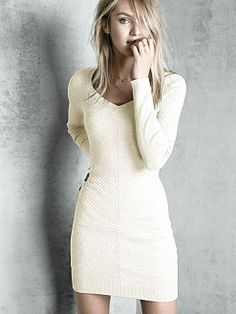 Ribbed Sweaterdress