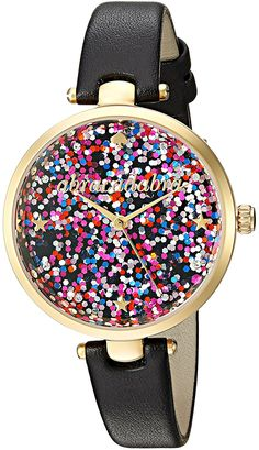 kate spade new york Black Leather Strap Glitter Dial Watch >>> See this great product. (This is an Amazon Affiliate link and I receive a commission for the sales)