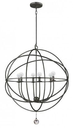 Six Light Black Open Frame Foyer Hall Fixture : SKU 29CF5 | The Lamp Outlet