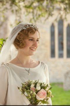 Downton Abbey wedding dress lady Edith