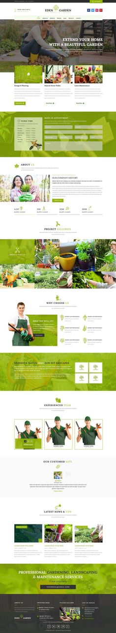 Eden Garden is clean and multipurpose business #PSD template for lawn services, gardening, #florists, ecology and landscape business #website. Download Now!