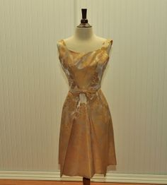 Vintage 1950 1960 Brocade Cocktail Dress by BettyJeanVintage, $110.00