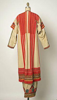 Ensemble Date: 19th century Culture: Russian Medium: (a) linen (b, d) cotton (c, f, g, h, i) wool