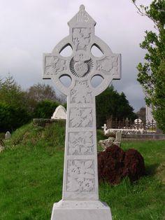 Gaelic Cemetery Headstone Cross in Aghadoe, Ireland Taken Oct 18, 2011 by my family