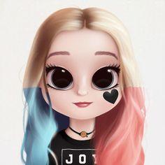 Harley Quinn❤️ her Kawaii Girl Drawings, Cute Girl Drawing, Girly Drawings, Cartoon Girl Drawing, Harley Quinn Drawing, Joker Und Harley Quinn, Cute Girl Wallpaper, Cute Disney Wallpaper, Cute Cartoon Girl
