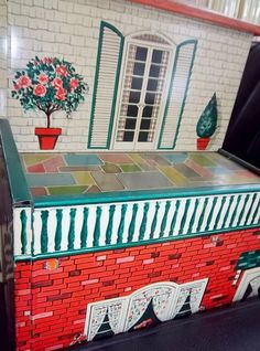 This is a Marx Tin Doll house from the1940s. It is a two-story traditional-style lithographed metal seven-room dollhouse with cute divided rooms. It has windows that open and close and decorative rooms. It is 18 1/2 tall by 12 wide and 28 in length. It is in excellent vintage condition with no rust or dents. It is an awesome doll house to add to your toy collection or as a wonderful gift to your favorite child! Thanks for stopping by! L&A