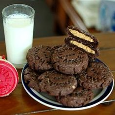 """Magic Peanut Butter Middles   """"Chocolate cookie with a surprise peanut butter center."""""""
