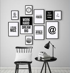 Office Quote Prints Don't forget to be awesome Office | Etsy