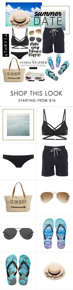 """""""Summer Date"""" by nerizaarviana on Polyvore featuring L'Agent By Agent Provocateur, Paul Smith, Brooks Brothers, Straw Studios, Ray-Ban, Michael Kors, Aéropostale, Eugenia Kim, likes and fashiontrends"""