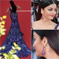 Aishwarya Rai Bachchan in Michael Cinco at Cannes Film Festival 2018 | Fashionworldhub