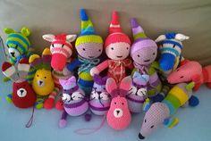 Csoportkép :-) Amigurumitoys, crochettoys Amigurumi Toys, Clay, Christmas Ornaments, Holiday Decor, Crochet, Home Decor, Clays, Decoration Home, Room Decor