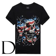 Womens Sugar Skull Flower Pattern Summer Casual Short Sleeve Tee Creative 3D Printed Graphic Hipster Design T Shirt