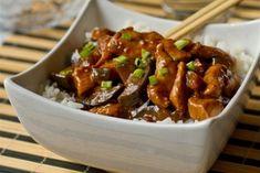Фото к рецепту: Курица с баклажанами по-китайски
