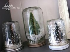 christmas mantel & snow globes