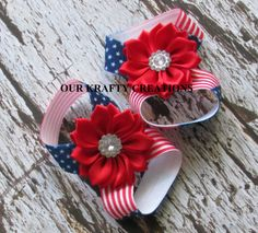 Girl Sandals, Elastic Baby Sandals, Baby Girl Sandals, 4th of July, Holiday Sandal, Photo Shoot Prop by OurKraftyCreations on Etsy