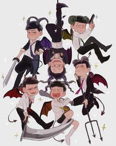 Osomatsu-san: The Devil Matsuno Brothers Anime Cosplay, Onii San, Osomatsu San Doujinshi, Dark Anime Guys, Otaku, Ichimatsu, Anime Comics, Funny Comics, Anime Art