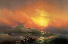 AIVAZOVSKY, Ivan Konstantinovich The Ninth Wave 1850 Oil on canvas, 221 × 332 cm State Russian Museum, St. Petersburg