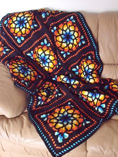 Stained Glass afghan. Too bad (for me) it's crochet.