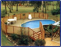 decking options for above ground pools | outdoor fun | pinterest