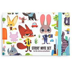 NWT Disney Store Back to School Authentic Zootopia Sticky Note Set