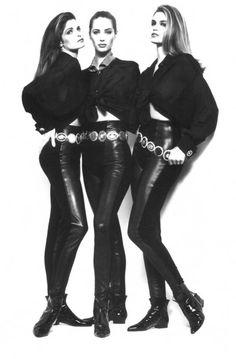 Versace Fall 1991 feat Stephanie Seymour, Christy Turlington & Cindy Crawford