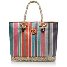 For getaways or everyday, the Baja Stripe Jaden Tote will add a perfect punch of color and pattern to your warm-weather look. Its striped woven linen shape con…