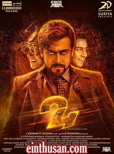 24 Tamil Movie Online - Suriya, Samantha Ruth Prabhu and Nithya Menen. Directed by Vikram Kumar. Music by A. R. Rahman. 2016 [U]