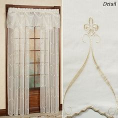 Cavalier Fleur De Lis Sheer Window Treatment Croscill pertaining to sizing 2000 X 2000