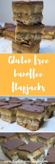 Gluten free banoffee flapjack recipe - www.theglutenfreeblogger.com