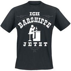 Ich Barshippe jetzt T-Shirt schwarz M